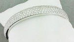 Cuff bracelets 6.00 Ct Diamond Solid Gold Natural Certified